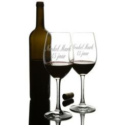Verres à vin Set Da Vinci avec texte