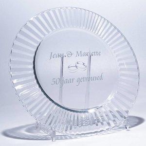 Assiette Tamiris avec texte