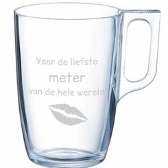 Mug de thé en verre avec personnalisation