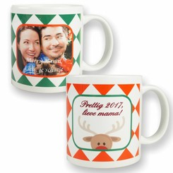 Mug Noël Carreaux avec photo