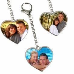 Porte-Clés Coeur  LOVE avec photo
