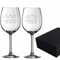 Wijnglazen set Lana met personalisatie