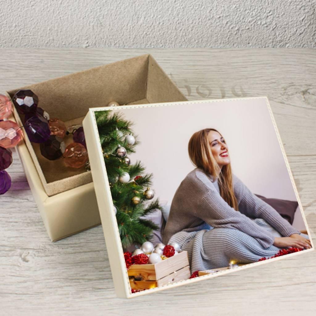 coffret bijoux skai cuir avec votre photo ou texte brianto cadeaux. Black Bedroom Furniture Sets. Home Design Ideas