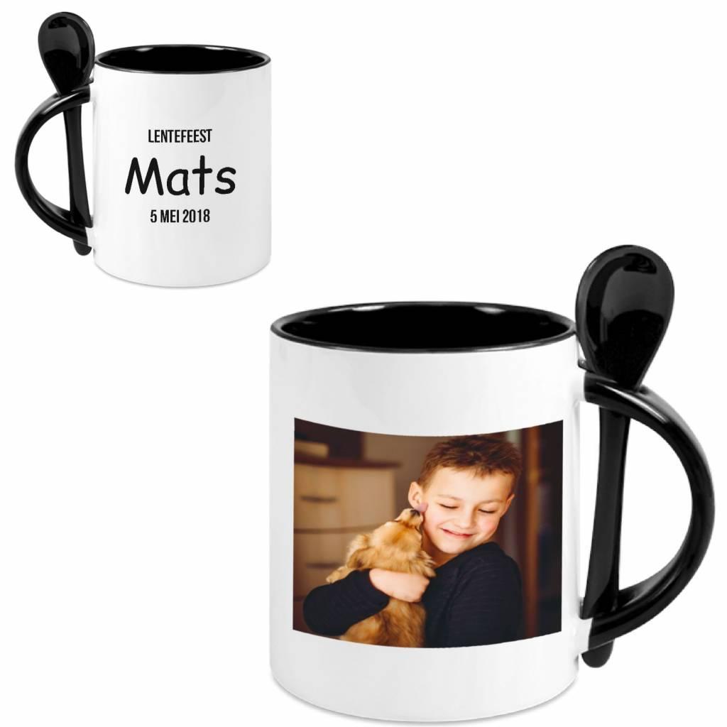 mug avec cuill re avec photo brianto cadeaux. Black Bedroom Furniture Sets. Home Design Ideas