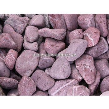 Red Laguna Pebbles Bordeaux sierstenen rond