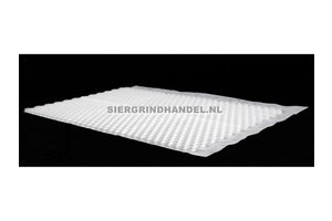 Witte splitplaat (incl. antiworteldoek)