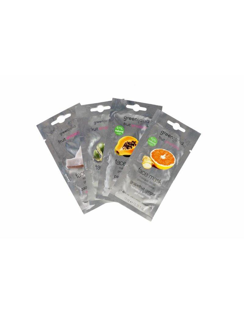 Fruit Emotions, gezichtsmasker, kokos-mandarijn, 10 ml