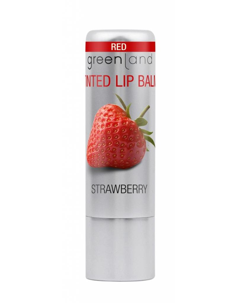 Glossy lip balm red 3.9 gr, strawberry