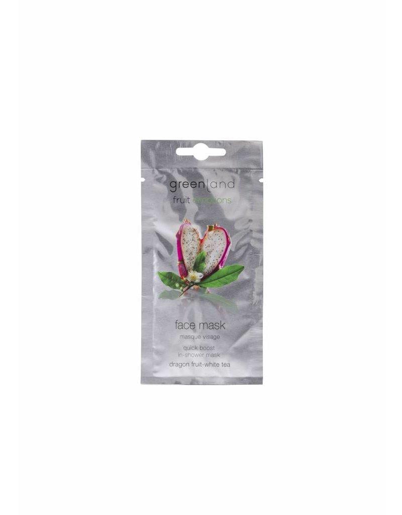 Greenland Fruit Emotions, gezichtsmasker, drakenvrucht-witte thee, 7 ml