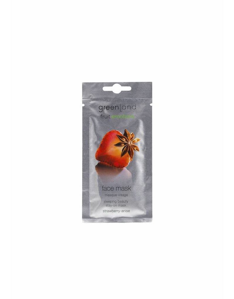 Greenland Fruit Emotions, face mask, strawberry-anise, 7 ml