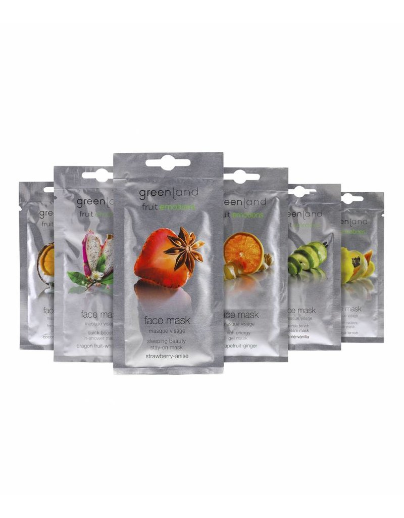 Greenland Fruit Emotions, Gesichtsmaske, Erdbeer-Anis, 7 ml