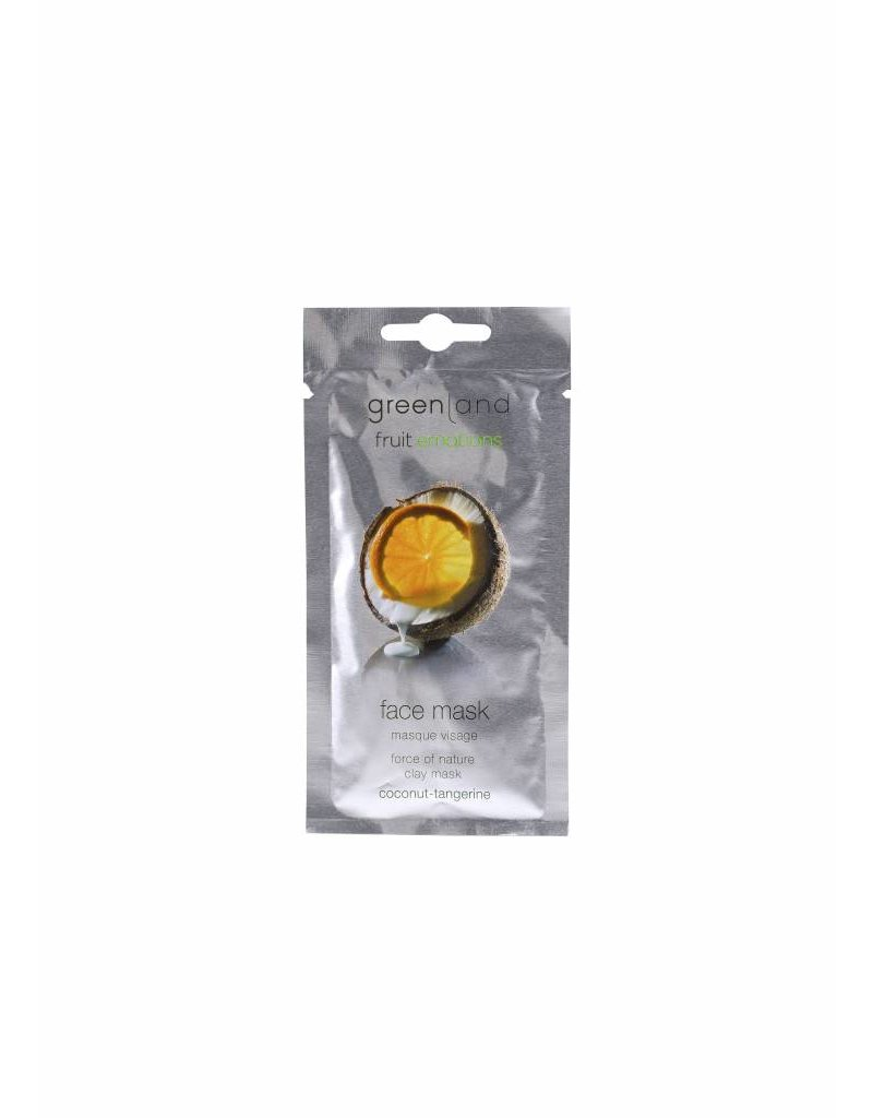 Greenland Fruit Emotions, Gesichtsmaske, Kokosnuss-Mandarine, 10 ml