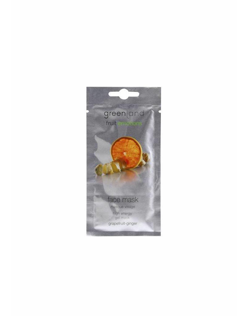 Greenland Fruit Emotions, Gesichtsmaske, Pampelmuse-Ingwer, 10 ml