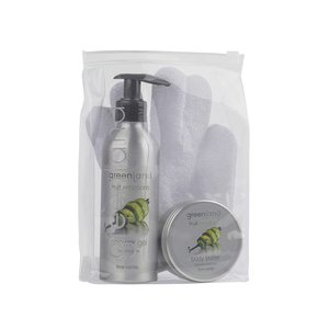 Fruit Emotions, giftset: scrub glove, shower gel, body butter, lime - vanilla