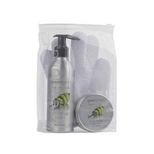 Fruit Emotions, giftset: scrub glove, shower gel, body butter, lime - vanilla