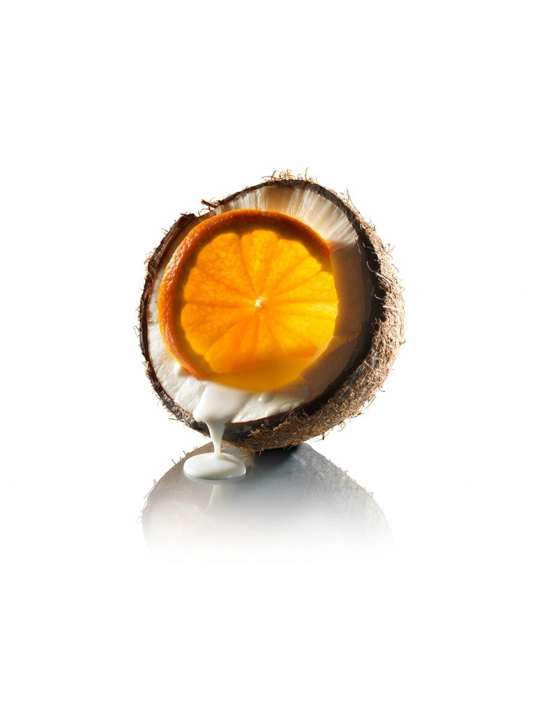 Fruit Emotions, giftset: scrub handschoen, douchegel, body butter, kokos-mandarijn