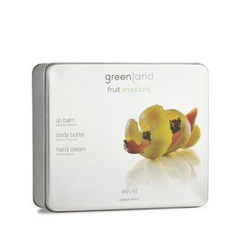 Fruit Emotions skin kit set, body butter, hand cream, lip balm papaya-lemon