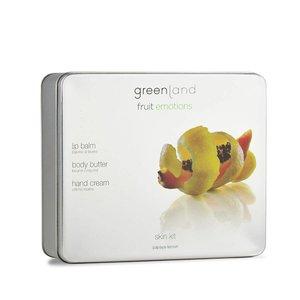 Fruit Emotions, Skin Kit, Körperbutter, Handcreme, Lippenpflege, Papaya-Zitrone
