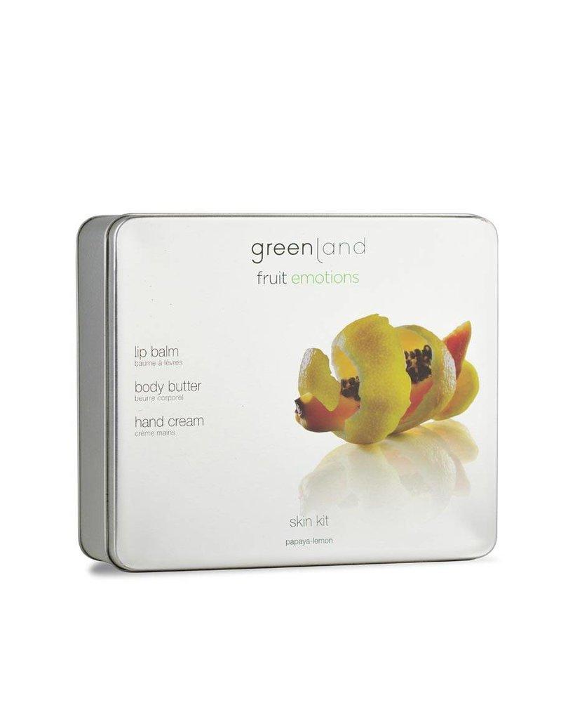Fruit Emotions, Skin Kit Set, body butter, handcrème, lippenbalsem papaja-citroen