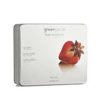 Fruit Emotions skin kit set, body butter, hand cream, lip balm, strawberry-anise
