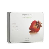 Fruit Emotions skin kit set, body butter, handcrème, lippenbalsem, aardbei-anijs