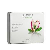 Fruit Emotions skin kit set, body butter, handcrème dragon fruit-white tea, lippenbalsem pomegranate