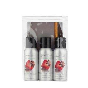 Fruit Emotions, travel set: shower mousse, body lotion mousse, body mist,  Erdbeer-Anis