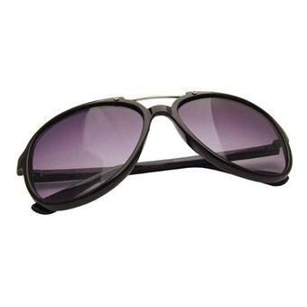 Retro Zwarte Zonnebril