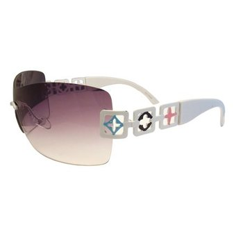 Vrolijke Witte Zonnebril