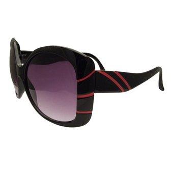 Zwart/Rode Streepjes zonnebril