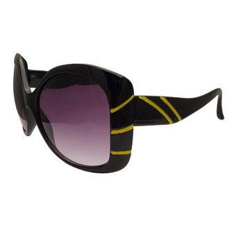 Zwart/Gele Streepjes Zonnebril
