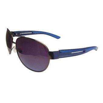 Metalen Blauwe Zonnebril
