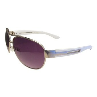 Metalen Witte Zonnebril