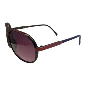 Zwart/Rode Zonnebril