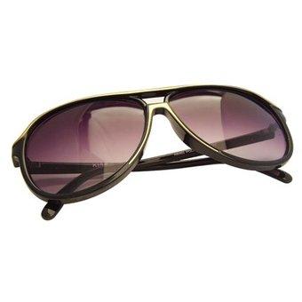Sportieve Zwart/Gouden Zonnebril
