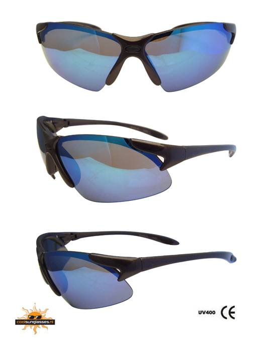 49a7cc5c3da377 Blauwe Spiegel sportbril - Goedkope Zonnebril