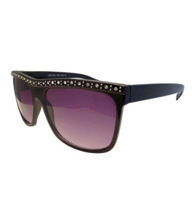 Zwarte Glitterbril