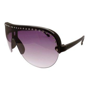 Hippe Zwarte Dames Zonnebril