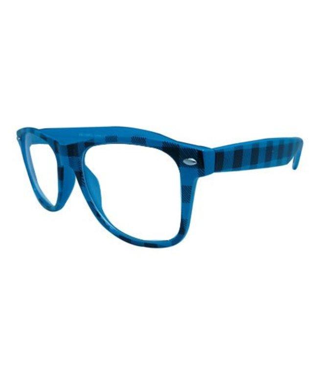 Blauwe Nerdbril