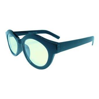 Ovale Zwarte Zonnebril