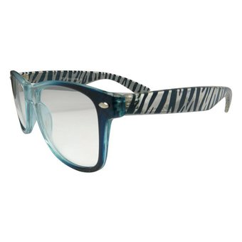 Blauwe Zebra Zonnebril