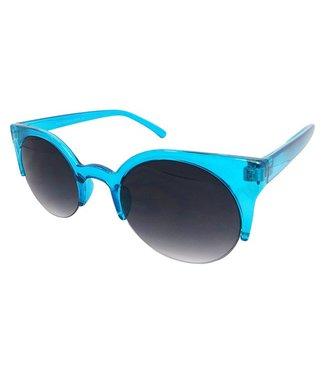 Blauwe Trendy Zonnebril