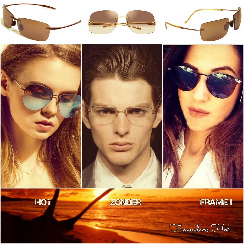 Frameloze zonnebrillen