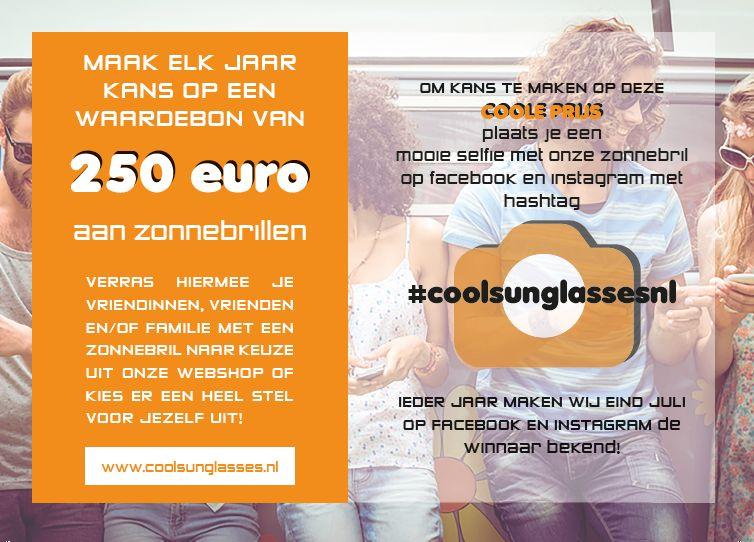Win voor 250 euro aan zonnebrillen!