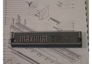 Emco Maximat V10-P Parts: Name Plate