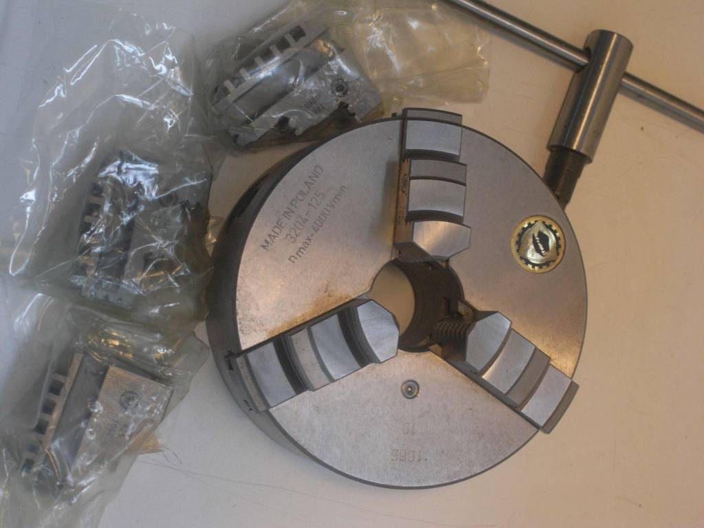 Bison 3-jaw chuck ø125mm - Niels Machines