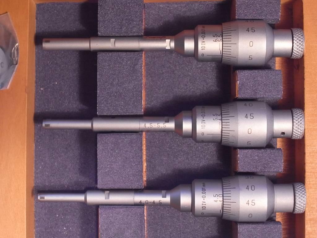 intrimic three piont internal micrometer set 3.5mm-6,5mm