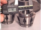 Sold: Crawford manual key operated hydraulic collet chuck with wide range multibore collets set