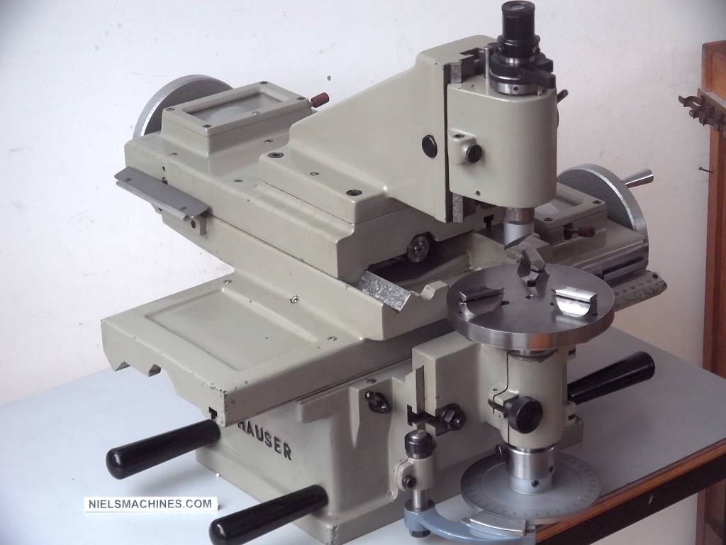 Jig Bore Rotary Table : Sold henri hauser m jig borer with motor and spindle