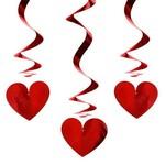 Spiralen hartje rood